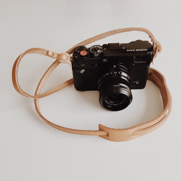 First Leather Camera Strap I made