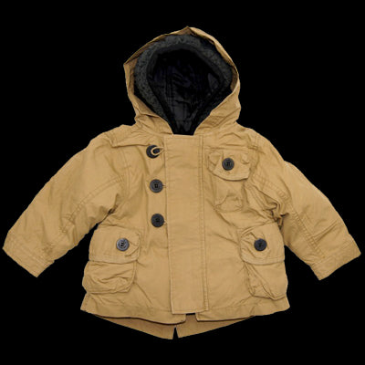 Boy's 4 In 1 Cozy Sherpa Hooded Microfiber Parka