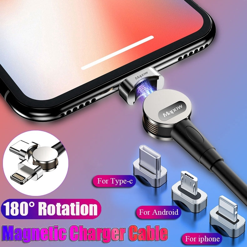 180 Degree Rotation Magnetic Charger Cable