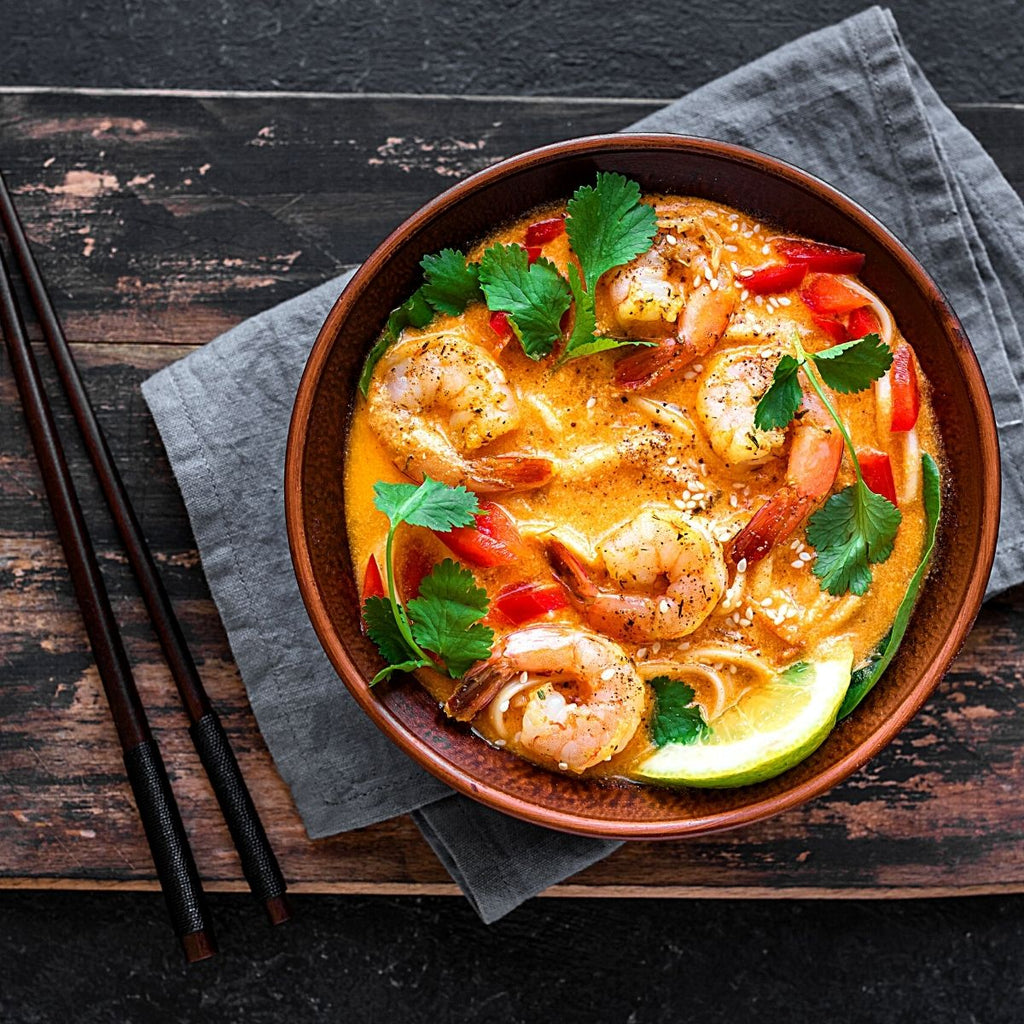 Indonesian Laksa Soup (Prawns)
