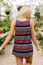 Load image into Gallery viewer, Stripes & More Stripes Tank Top In Navy