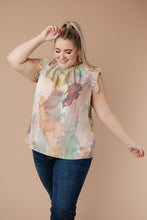 Load image into Gallery viewer, Abstract Floral Lineup Pastel Blouse