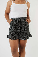 Load image into Gallery viewer, Short Leash Ruffled Shorts In Black