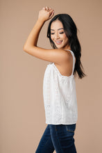 Load image into Gallery viewer, Eyelet You Know Camisole In Off-White