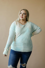 Load image into Gallery viewer, Heavenly Sweater In Pale Peach & Aqua