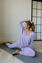 Load image into Gallery viewer, Lounging In Color Top In Lavender