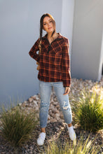 Load image into Gallery viewer, Pretty Plaid Half Zip Pullover
