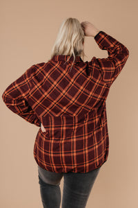 Pretty Plaid Half Zip Pullover