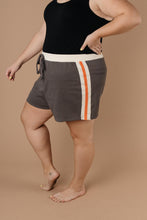 Load image into Gallery viewer, Sporty Stripe Shorts In Charcoal