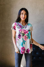 Load image into Gallery viewer, Unexpected Flowers V-Neck Top