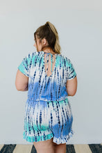 Load image into Gallery viewer, Blue Bamboo Tie Dye Romper