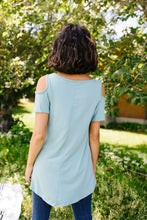 Load image into Gallery viewer, Cold Shoulder Crossed Heart Top In Sage