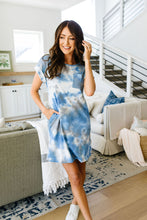Load image into Gallery viewer, Tie Dyed Comfort T-Shirt Dress In Blue