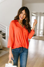 Load image into Gallery viewer, Coral Surplice Blouse