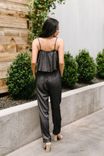 Load image into Gallery viewer, Crosshatch Jumpsuit in Black