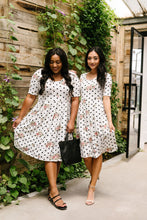 Load image into Gallery viewer, Dots & Roses Dress In Ivory