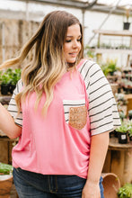Load image into Gallery viewer, Double Bubble Gum Raglan Top