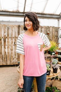 Double Bubble Gum Raglan Top