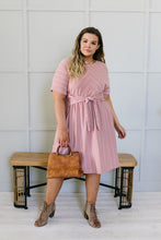 Load image into Gallery viewer, Fine Line Midi Dress In Mauve