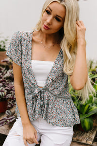 Floral Layering Top