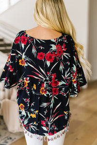Flowers & Fringe Blouse