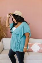 Load image into Gallery viewer, Fly Away Home Blouse In Dusty Teal