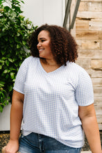 Load image into Gallery viewer, Good Girl Gingham V-neck In Baby Blue
