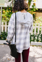 Load image into Gallery viewer, Hooded Plaid Button-Down