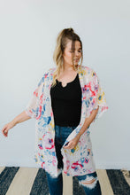 Load image into Gallery viewer, Lightweight Floral Kimono In Ivory