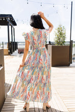 Load image into Gallery viewer, Meandering Patterns Maxi Dress