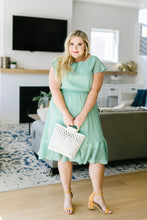 Load image into Gallery viewer, Mint Dotted Midi Dress