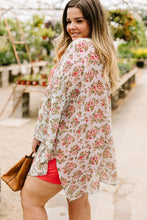 Load image into Gallery viewer, Minty Fresh Floral Kimono