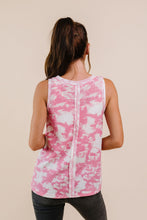 Load image into Gallery viewer, Moody Pink Thermal Tie Dye Top