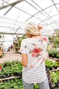 My Garden Overfloweth Top In Ivory