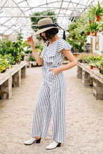 Load image into Gallery viewer, Nautical & Nice Striped Jumpsuit