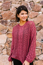 Load image into Gallery viewer, Paprika Open Knit Chenille Sweater