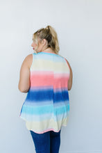 Load image into Gallery viewer, Pastel Gradient Stripes in Blue & Coral