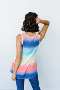 Pastel Gradient Stripes in Blue & Coral