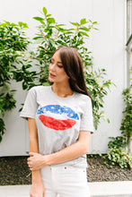 Load image into Gallery viewer, Patriotic Lip Service Graphic Tee