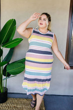 Load image into Gallery viewer, Pool Party Striped Midi Dress