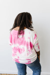 Raspberries & Cream Tie Dye Top
