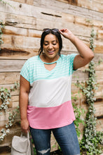 Load image into Gallery viewer, Sherbet Colorblock Top In Watermelon & Mint