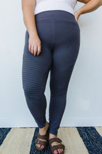 Load image into Gallery viewer, Soft As Butter Moto Athletic Leggings In Charcoal