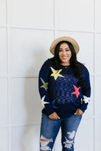 Load image into Gallery viewer, Starring You Sweater In Navy
