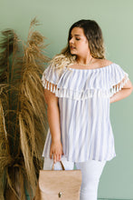 Load image into Gallery viewer, Stripes N Tassels Off Shoulder Blouse