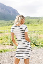 Load image into Gallery viewer, Stripey Babydoll Dress In Ivory