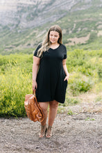 Load image into Gallery viewer, Summer Swing V-Neck Dress In Black