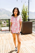 Load image into Gallery viewer, Tessa Tie Dye Top In Pink