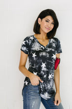 Load image into Gallery viewer, Tie Dye Glory V-neck In Black