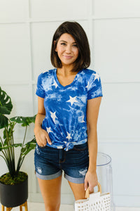 Tie Dye Glory V-neck In Blue